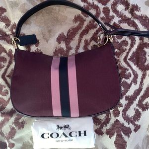 Coach Bags - 🌸Coach Sutton Oxblood Polished Cross Body Bag
